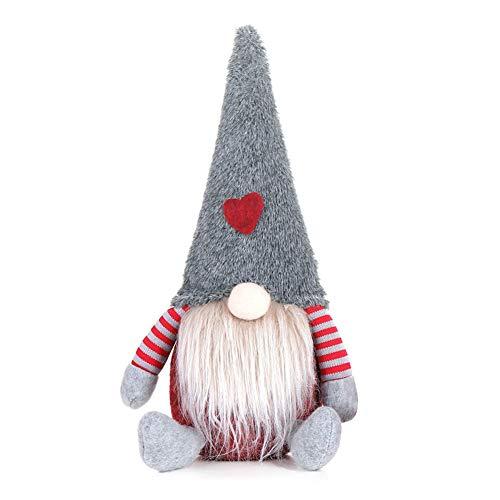 PerGrate Christmas Creative Doll, Christmas Faceless Gnome Santa, árbol de Navidad, adorno colgante, color rojo, verde y gris