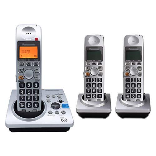 ZYFA Teléfono Fijo Teléfono inalámbrico (DECT) con Tonos de Llamada y Audio Mejorado, Pantalla iluminada, configuración de inglés/español, hasta 6 teléfonos se Pueden Ampliar (Color : C)