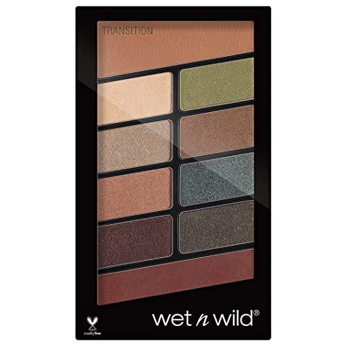 Wet 'n' Wild Lidschatten Palette Make-up, 10 hochpigmentierte Farben, Comfort Zone, 10 g