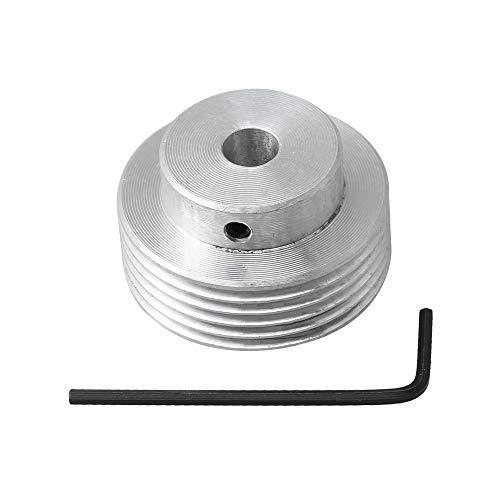 BQLZR 40 mm de diámetro 8 mm calibre plata máquina herramienta de alimentación accesorios de polea múltiple para correa en V
