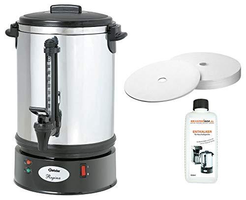 Rundfilter Kaffeemaschine Regina Plus 90T + 200 Rundfilter + Flüssig-Entkalker