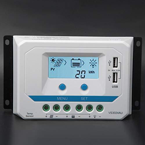 Controlador de Carga Solar Auto PWM Display LCD Dual USB Solar Energy Street Light(VS2024AU-20A)