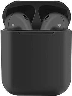 【Bluetooth 5.0進化版】 Bluetooth イヤホン 両耳 TWS左右分離型 高音質 完全ワイヤレス イヤホン 耳掛け式 通話可 自動ペアリング IPX4防水 ブルートゥース イヤホン マイク付き 軽量ワンボタン設計 Bluetooth ヘッドホン ハンズフリー通話 CVC6.0ノイズキャンセリング(AirPodsケース付き) (黒)