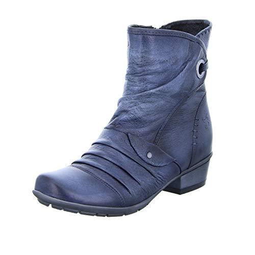 Maciejka Damen Stiefelette 01003 Leder Reißverschluss Blau Größe 38 EU