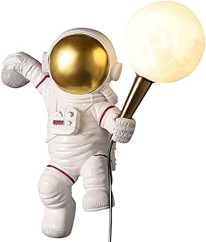 ZQWE Luz de Nocturna Led para Niños Habitación, Astronauta Lámpara de Mesita de Noche, Lámpara de Luna 3D, Elegir Luz de Noche Ambiente Lámparas, Niños Bebé Regalo de Fiesta Decoración (A/3)