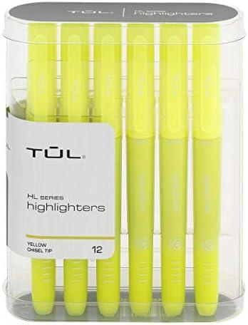 TUL Japan's largest assortment Highlighters Chisel Point Yellow Fluor Houston Mall Fluorescent Barrel