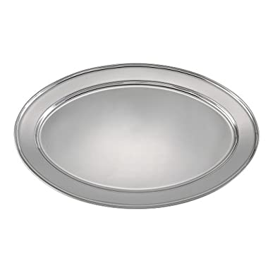 Winco OPL-22 Stainless Steel Oval Platter, 21.75-Inch by 14.5-Inch
