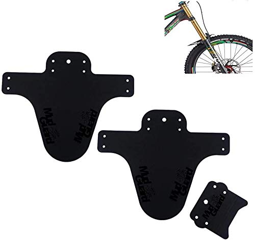 2PCS Fahrrad Mud Guard Schutzblech MTB Bike Spritzschutz mit Kabelbinder (2 Stücke/schwarz)