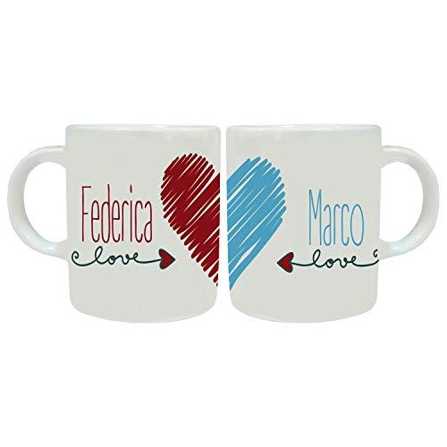MP CREATIVE SRL Coppia Tazze Mug Personalizzate