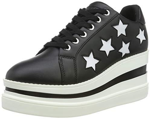 Guess Damen Kraze/Active Lady/Leather Like Gymnastikschuhe, Schwarz (Black Black), 39 EU