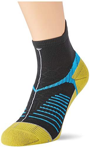 Salewa Ultra Trainer Sock, Calzini Unisex-Adulto, Grigio (Dark Grey/Honey), 44/46