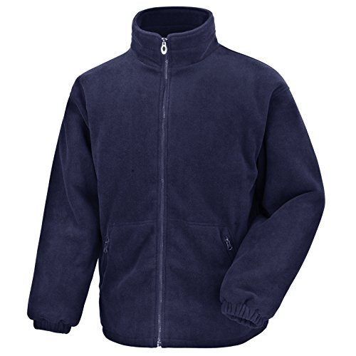 Result Core - Polaire thermique d'hiver entièrement zippée - Pour hommes - Bleu - X-Large