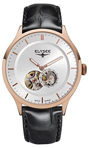 Elysee, 15103, unisex, volwassene analoog automatisch horloge met lederen armband