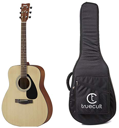Yamaha F280 Acoustic Guitar, Natural + True Cult Acoustic Guitar Bag/Cover (Black) Strong And Durable For All Sizes And Shape