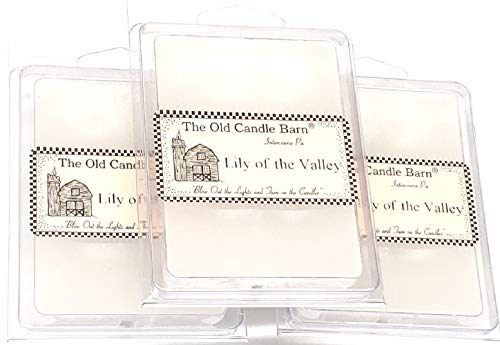 Old Candle Barn Lily of The Valley Wax Melts Set of 3 (6-Cube Pack) Hand Poured