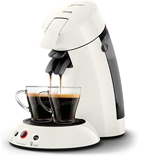 Philips Senseo HD6554/10 Kaffeepadmaschine (Crema Plus, Kaffeestärkewahl) weiß