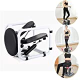 Stepper Exercise Machine, Portable Fitness Mini Step Machine with Resistance Bands and LCD Monitor, Exercise Home Workout Equipment for Full Body Workout