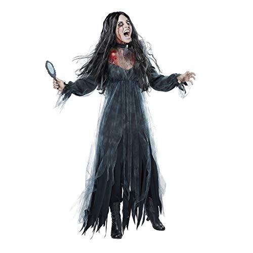 Auiyut Damen Halloween Kostüm Kleid Friedhofsbraut Kostüm Zombie Braut Kleid Vampir Piraten Schatz...