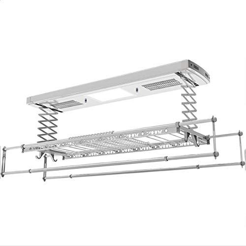 HZNZZZ Tendedero Remoto, Inteligente Controlado por Sonido Eléctrico del Hogar Telescópicas Ropa Polo Máquina Secado Panel De Colgar De La Pared Tendedero - Desinfección De Iluminación LED,A