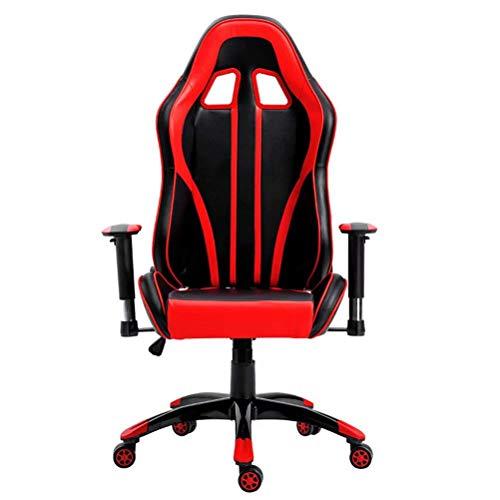 Silla giratoria de escritorio de alta calidad con reposabrazos y asiento de piel sintética, color negro oscuro