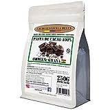 Chocolate Negro Puro 100% - Origen Ghana - Bolsa 250g - (Pasta, Masa, Licor De Cacao 100%) Cacao Venezuela Delta