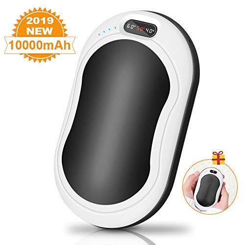 JIMOTEK Hand Warmers Rechargeable,10000mAh Electric Portable Pocket Travel Camping Hand Warmer/Power Bank/Flashlight/Hand Heater Winter Gifts for Women Men Outdoor Sports Office