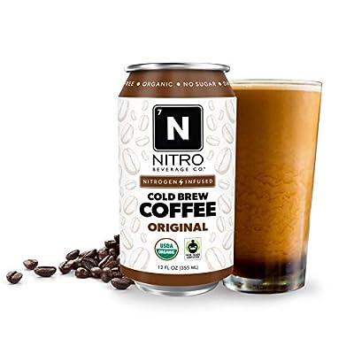 NITRO Beverage Co. | 12-Pack (12 fl oz) | Original NITRO Cold Brew Coffee | Certified Organic & Fair-Trade | Sugar Free, Dairy Free, Zero Calories | Always Cold, Always Fresh