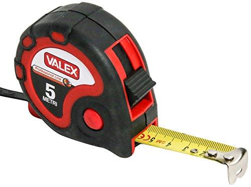 Valex 1800537.0 Flessometro, Rosso, 5 metri