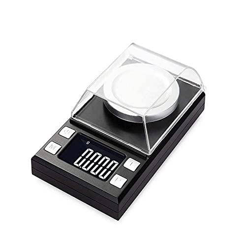 0 001g Digitale LCD-Schmuckwaage Laborgewicht Hochpräzise Waage Medizinische Verwendung Tragbare Mini-elektronische Waage-0,001 g-50 g