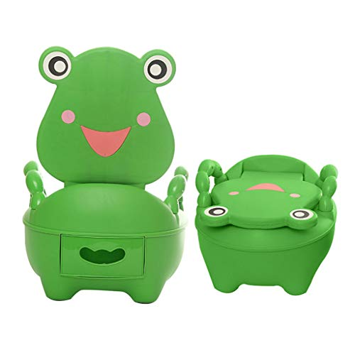 AIBAB Children's Toilet Baby Potty Urinal Drawer Type Green Frog Environmentally Friendly PP Plastic Extra Large