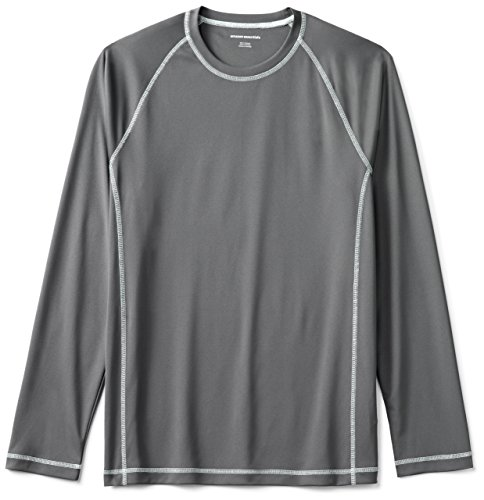 Amazon Essentials Men's Long-Sleeve Quick-Dry UPF 50 Swim Tee, Charcoal, X-Large