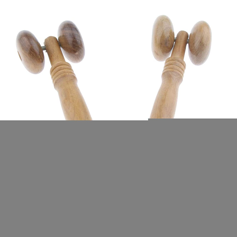 フィードオン証拠物思いにふけるdailymall 美顔ローラー 木製フェイスローラー 手動式 小顔ローラー 背中 マッサージ 筋肉のたるみ 2個セット