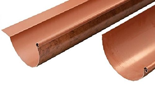 Canalón de aluminio Roof Cobre 2 metros lineales – Todos los desarrollos con aleta, 25