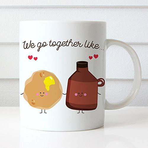 Koffiemok We Gaan Samen Zoals Pannenkoeken en Siroop Koffiebeker - Beste Vrienden Koffiemok