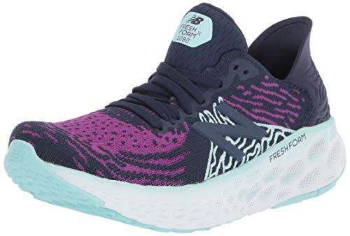 New Balance 1080v10 Fresh Foam, Zapatillas para Correr Mujer, Pciruela Natur Indigo Bali Azul, 37.5 EU