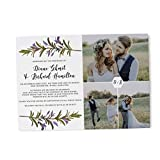 Wedding Announcement Photo Cards by LoveAtEverySight |Floral Photo Elopement...