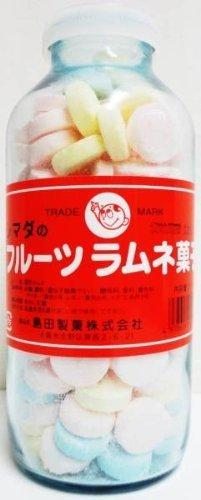島田製菓 フルーツラムネ菓子(大瓶) 250g ミックスフルーツ 1 個