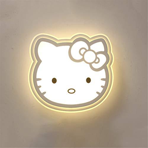 LBMY De los niños Lindos de Techo Lámpara de Hello Kitty llevó la lámpara de Techo Creative New Decoración de niños Lámpara de Habitaciones,Blanco