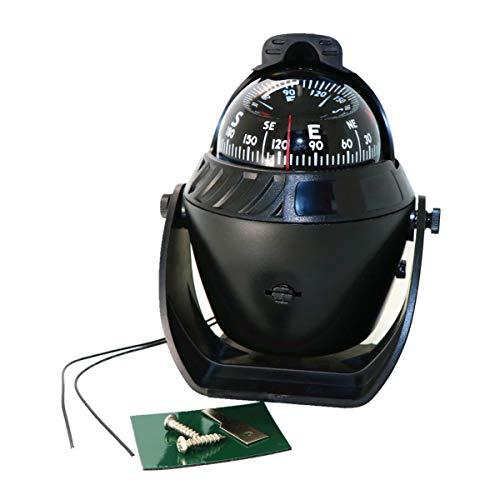 Wakauto Einstellbare Armaturenbretthalterung Kompass Navigationsrichtung Richtungsanzeigende Führungskugel mit magnetischer Deklinationsanpassung für Schiffs-LKW Auto Auto (Muster 1)