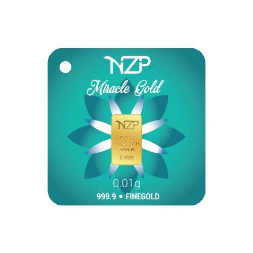 Nzp Goldbarren 0,01 Gramm, Goldbarren 0,01g, Feingehalt 999,9