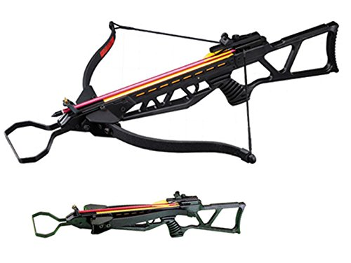 130 lbs Foldable Hunting Crossbow Package 7 x 14'' Aluminum Arrows and 4 x 20 Scope (Black)