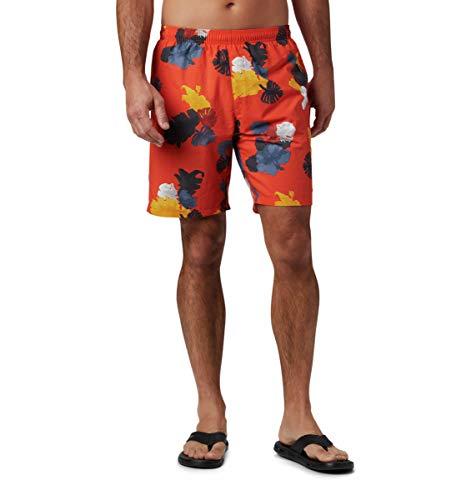 Columbia Big Dippers - Pantalones Cortos de Agua para Hombre, Hombre, 1768851, Wildfire Tropic, Extra-Large