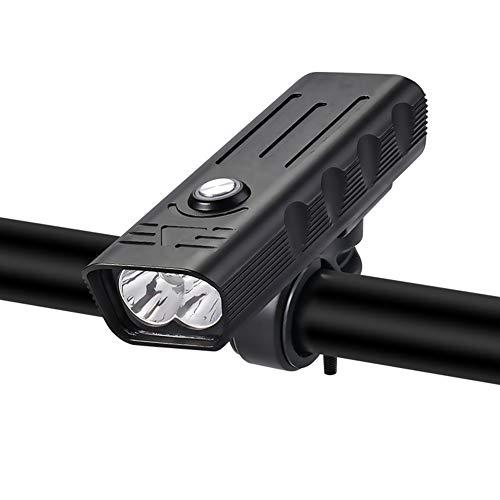 WYW Luzde Bicicletat,Lúmenes 5 Modos,Clasificación de Impermeabilidad IPX5,Luz Bicicleta LED Recargable USB,para Carretera y Montaña-Seguridad para la Noche