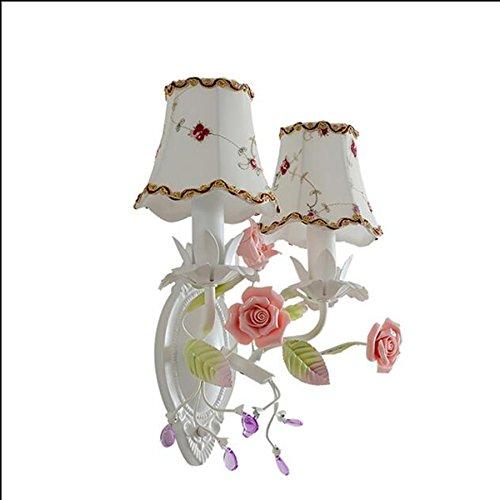 Ancien cor¨¦en princesse chambre de jardin lampe de mur de chevet de la chambre de fer personnalis¨¦ balcon restaurant escalier couloir miroir couloir
