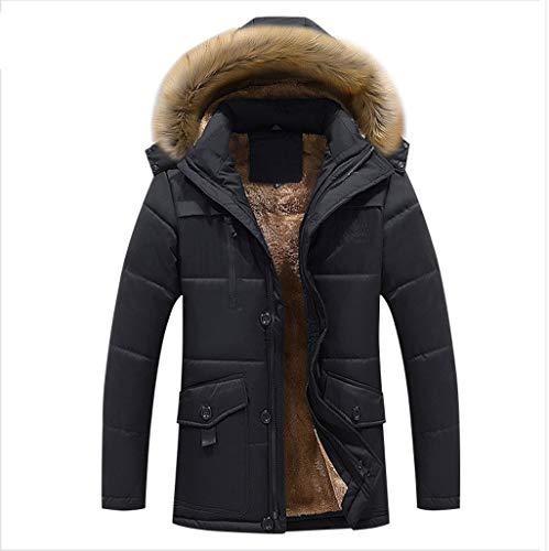 QARYYQ lange katoenen kleding in de winter, mannen Plus maat Plus fluweel verdikte gemiddelde en oude katoenen jas en mest ter verhoging van de vaderjas reflecterende kleding