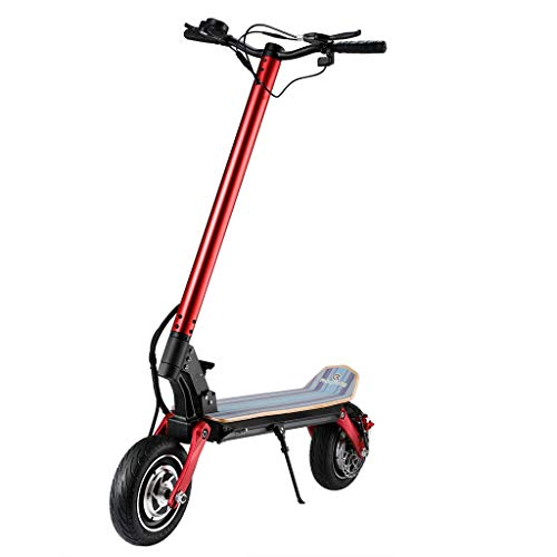 JHZYP Scooter Eléctrico Plegable con Asiento, Neumáticos Todoterreno De 50 Km/H De Velocidad Máxima, Scooter Todoterreno Plegable, Motor De 500 W, Largo Alcance De 100 Km para Adultos Y Adolescentes