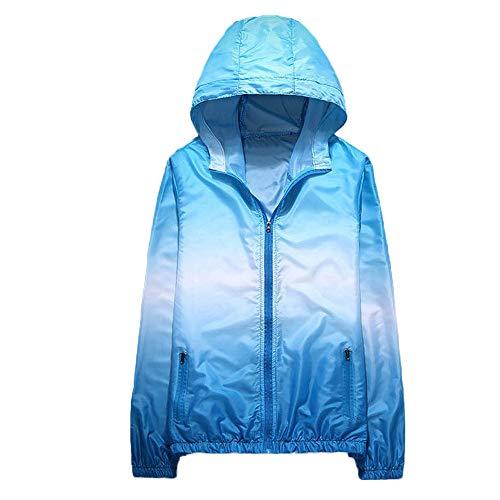 B-COMMERCE Damen Jacken Steigung Paar tragen mit Kapuze Reißverschluss Taschen Sport Mantel CardiganKapuzenpullover mit Sonnencreme mit Kapuze Top