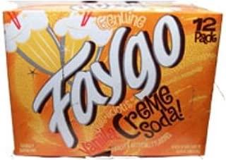 Faygo Vanilla Cream Soda, 12 oz cans, 12 pack