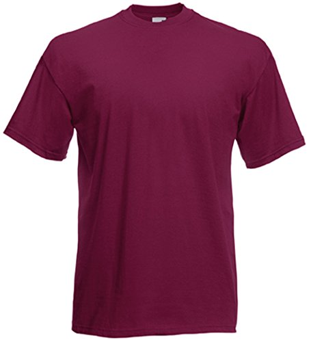 Fruit of the Loom Herren T-Shirt rot bordeaux X-Large