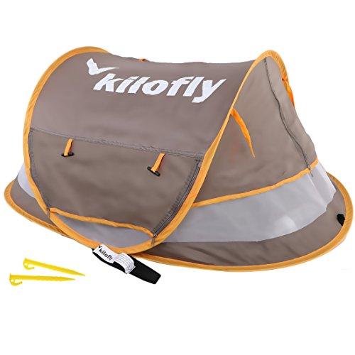 kilofly Pop-Up-Zelt, Reise-/Strandzelt für Babys/Kleinkinder, UV-Schutzfaktor 35 +, mittlere Größe, mit 2 Heringen